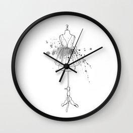Black Dress Wall Clock