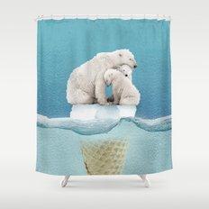 polar ice cream cap 02 Shower Curtain