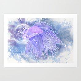 Last 'Betta' Unicorn Art Print