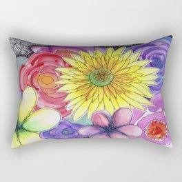 floral bouquet Rectangular Pillow