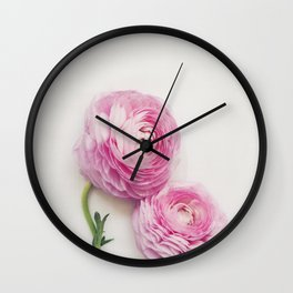 Pink Peonies 2 Wall Clock