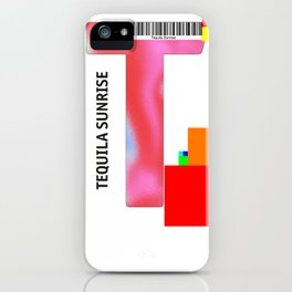 """Cocktail """"T"""" - Tequila Sunrise iPhone Case"""