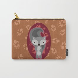Squirrel with Paw Prints Carry-All Pouch