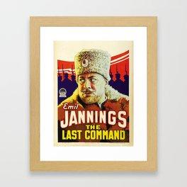 Vintage poster - The Last Command Framed Art Print