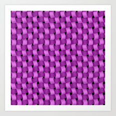 Woven Purple - Pattern Painting Art Print