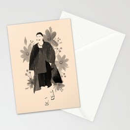 Fashion Blooms No.2 (Black) Stationery Cards