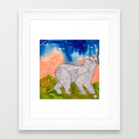 northern lights Framed Art Prints featuring Northern Lights by Dawn Patel Art