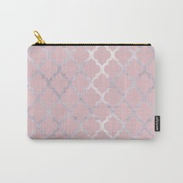 Moroccan Silver & Pink Carry-All Pouch