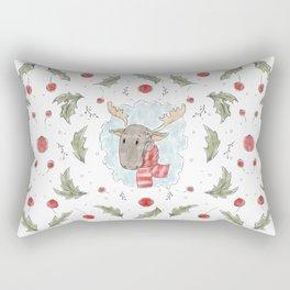 Vintage mistletoe pattern Rectangular Pillow