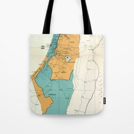 Map of Palestine Plan of Partition with Economic Union Tote Bag