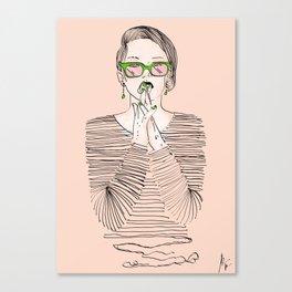 Shirt lines Canvas Print