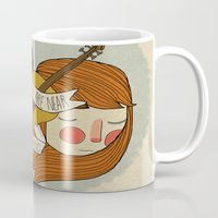 nan lawson Mugs featuring Music Is All Around by Nan Lawson