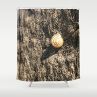 snail Shower Curtains featuring Snail by Enrique Ayala