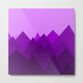 Abstract Purple Alien Landscape Metal Print
