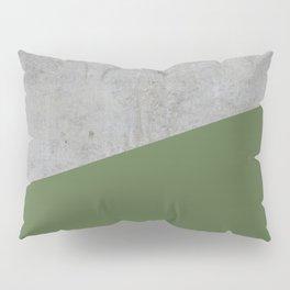 Concrete and Kale Color Pillow Sham