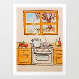 Pembral's Kitchen Art Print