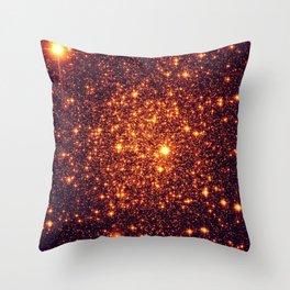 Copper Bronze Glitter Stars Throw Pillow