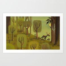Moose Of The Woods Art Print