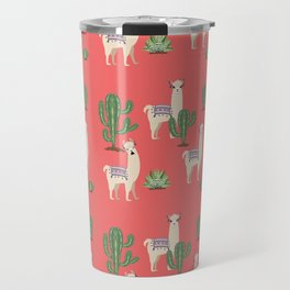 Llama with Cacti Travel Mug