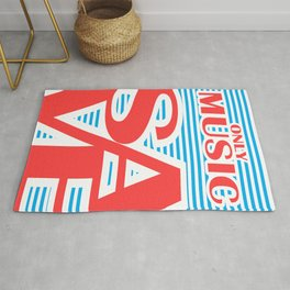 Only Music Save, typography poster, Rug