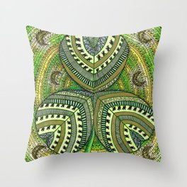 Patterned Shamrock Throw Pillow