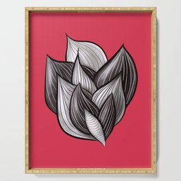 Beautiful Abstract Dynamic Shapes Serving Tray