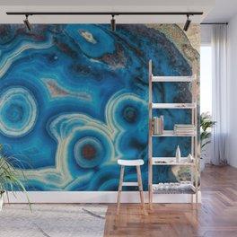 Blue Raindrop Agate 0026 Wall Mural