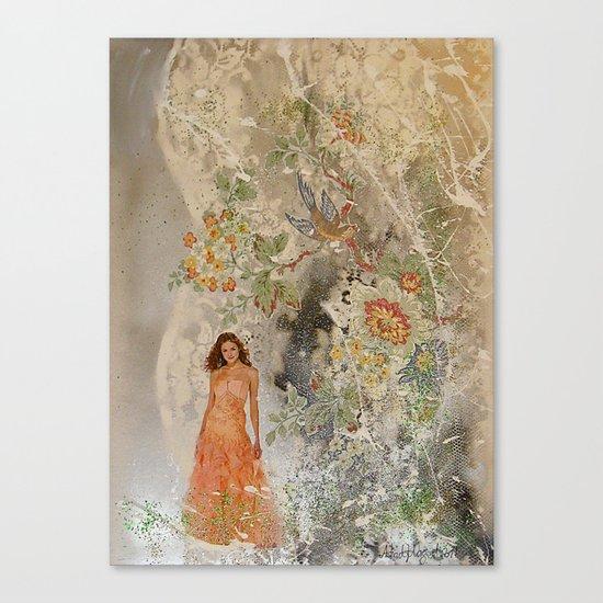 A romantic touch Canvas Print