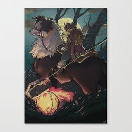 Moonlit Ride Canvas Print
