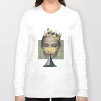 trumpet Long Sleeve T-shirts featuring Sad trumpet by fabiotir