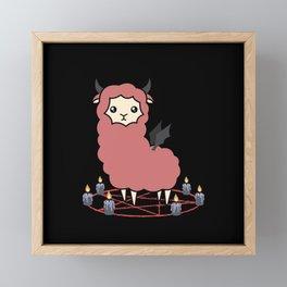 Llama demon Framed Mini Art Print