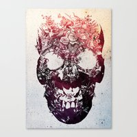 skull Canvas Prints featuring SKULL by Ali GULEC