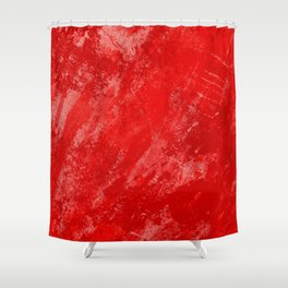 Love And Fury - Abstract painting in red Shower Curtain