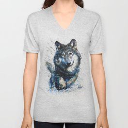Gray Wolf - Forest King Unisex V-Neck