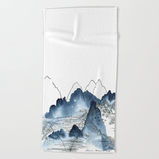 Love of Mountains Beach Towel