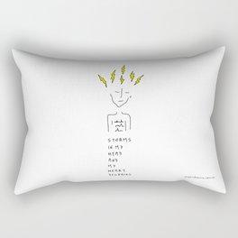 Storms In My Head Rectangular Pillow