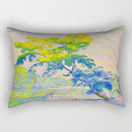 Bending Tree 1905 Henri-Edmond Cross Neo-Impressionism Pointillism Oil Painting Rectangular Pillow