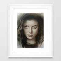 lorde Framed Art Prints featuring Lorde by David Nash