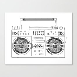 Boooombox Canvas Print