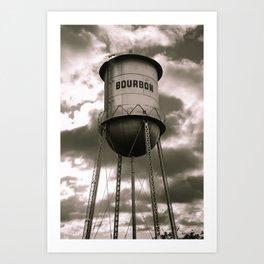 Cloudy Bourbon Original - Sepia Edition Art Print