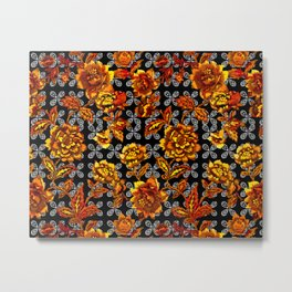 Flowers Power Metal Print