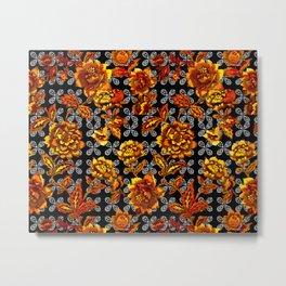 Flowers Power Metal Print