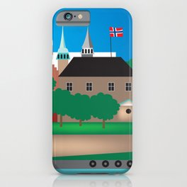 Oslo, Norway - Skyline Illustration by Loose Petals iPhone Case