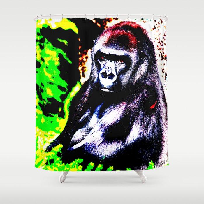 Abstract Gorilla 2 Shower Curtain