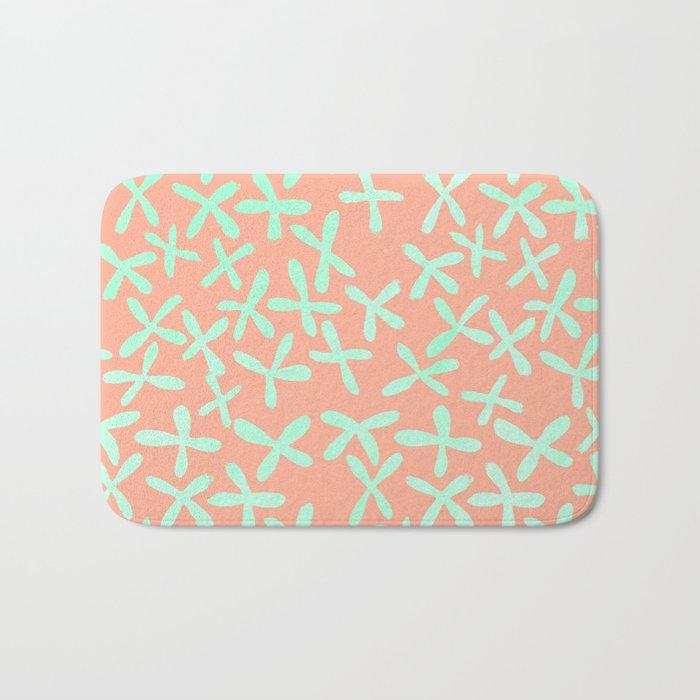 Sweet Life Firefly Peach Coral + Mint Meringue Bath Mat