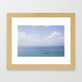 Amalfi Coast Sea Framed Art Print