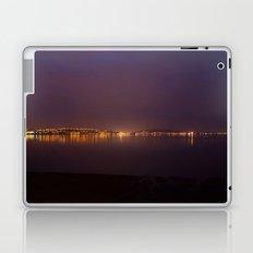 Swansea Bay at Night Laptop & iPad Skin
