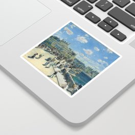 Pont Neuf Paris Painting by Auguste Renoir Sticker
