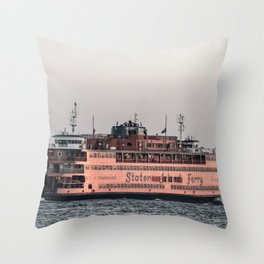 """""""The Boat"""" , Staten Island Ferry Throw Pillow"""