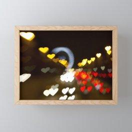 Love Along the Champs Elysees Framed Mini Art Print